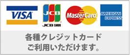 クレジットカード対応しております